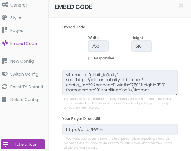 How do I Embed my Infinity Store? - Airbit Support